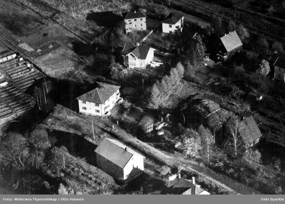 Frydenbergveien, Hasle, Økern (Flyfoto)