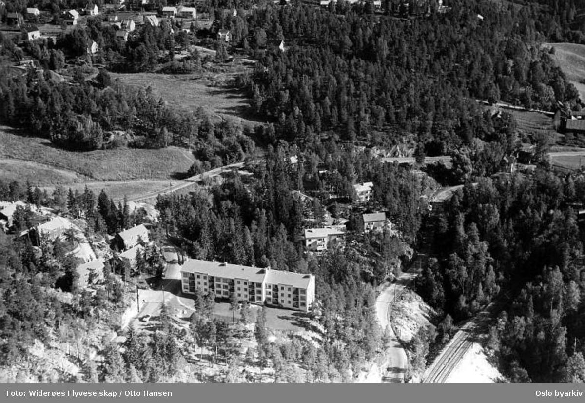 Øvre Ljan Boligbyggerlag, Øvre Ljanskollvei, Hauketo (Flyfoto)