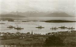 Molde by sett fra nord..Flåtebesøk i Molde.