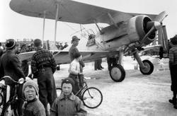 Fly nødlandet under krigen på mjøsisen, 9. april 1940, mye f