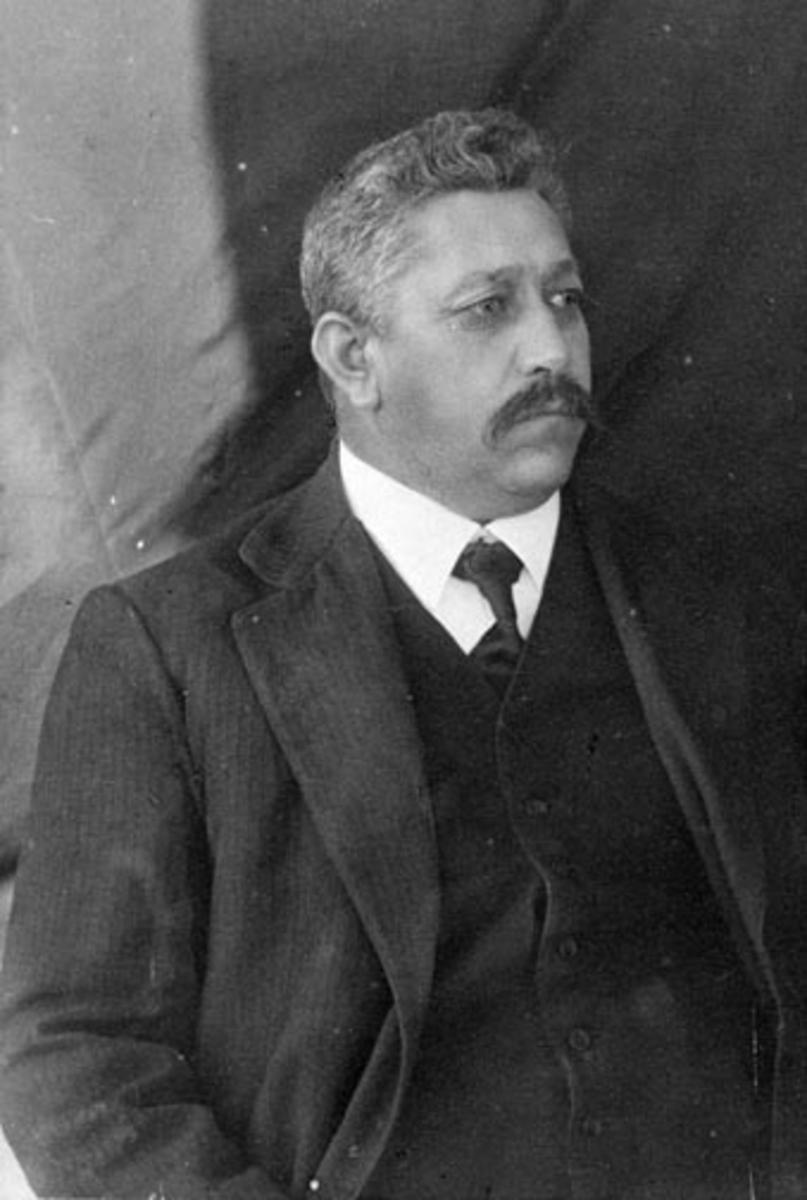 Portrett, Morten Gulbrandsen Sølvsberg (1864-1920), Sølvsberg østre, Nes, Hedmark.
