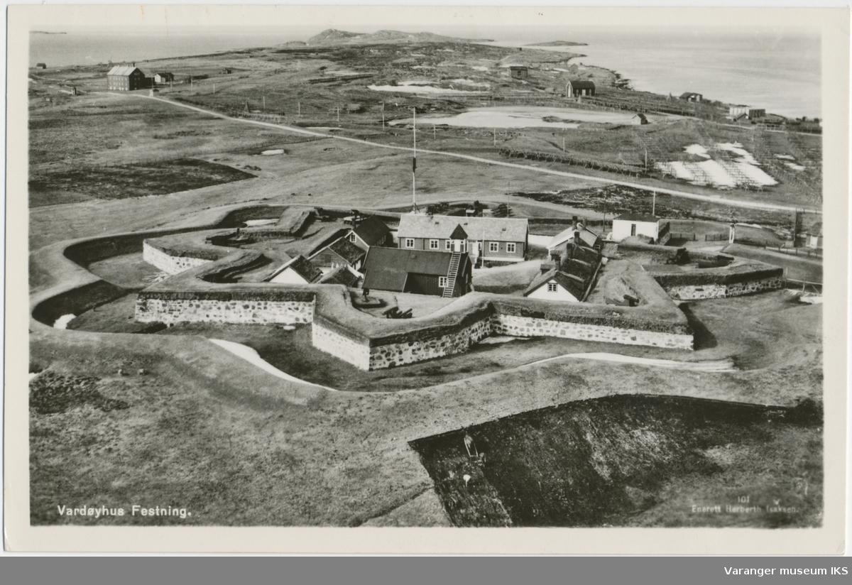 Postkort, Vardøhus Festning, ca. 1930