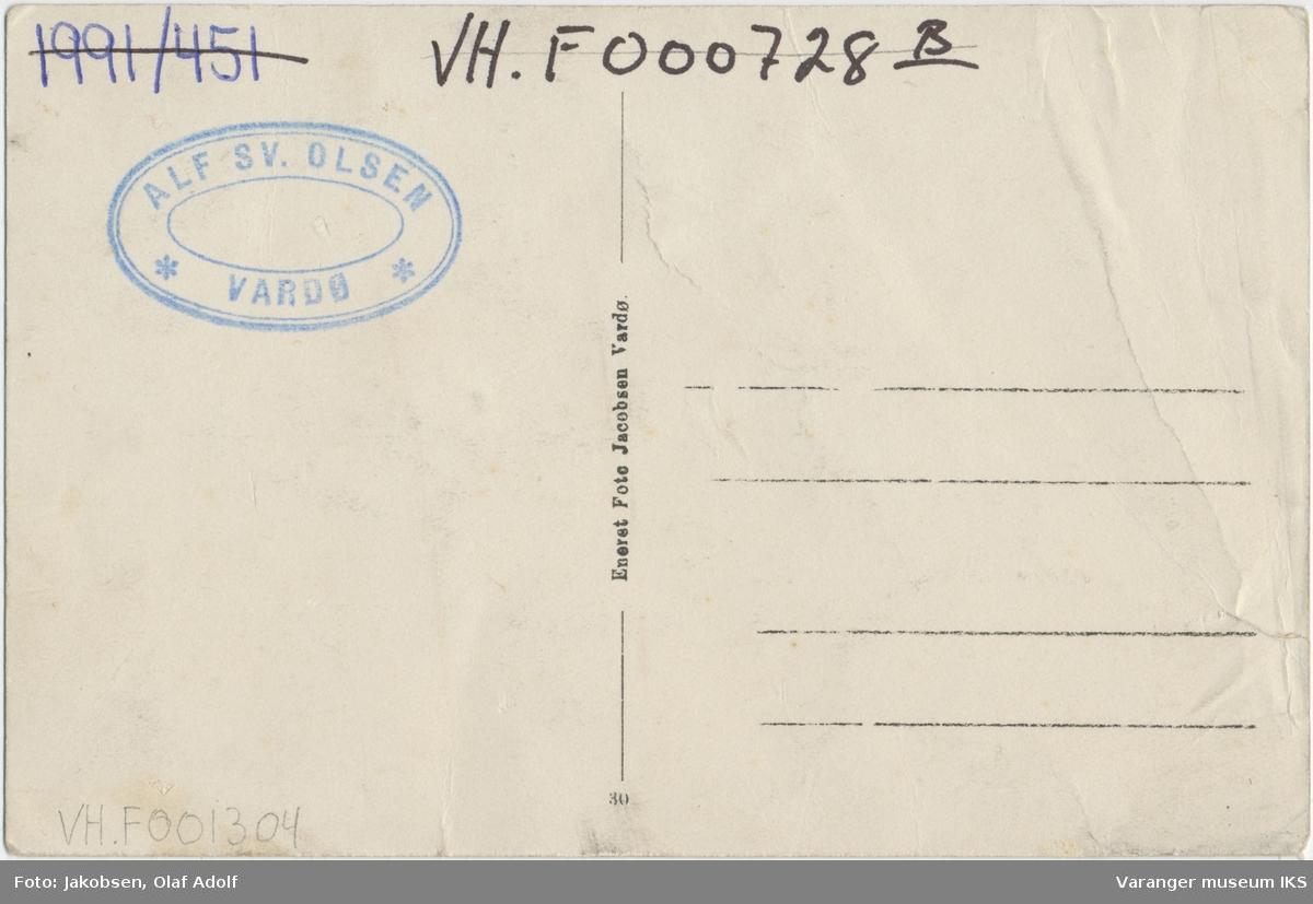 Postkort, fylkessykehuset i Vardø, sett mot nordvest