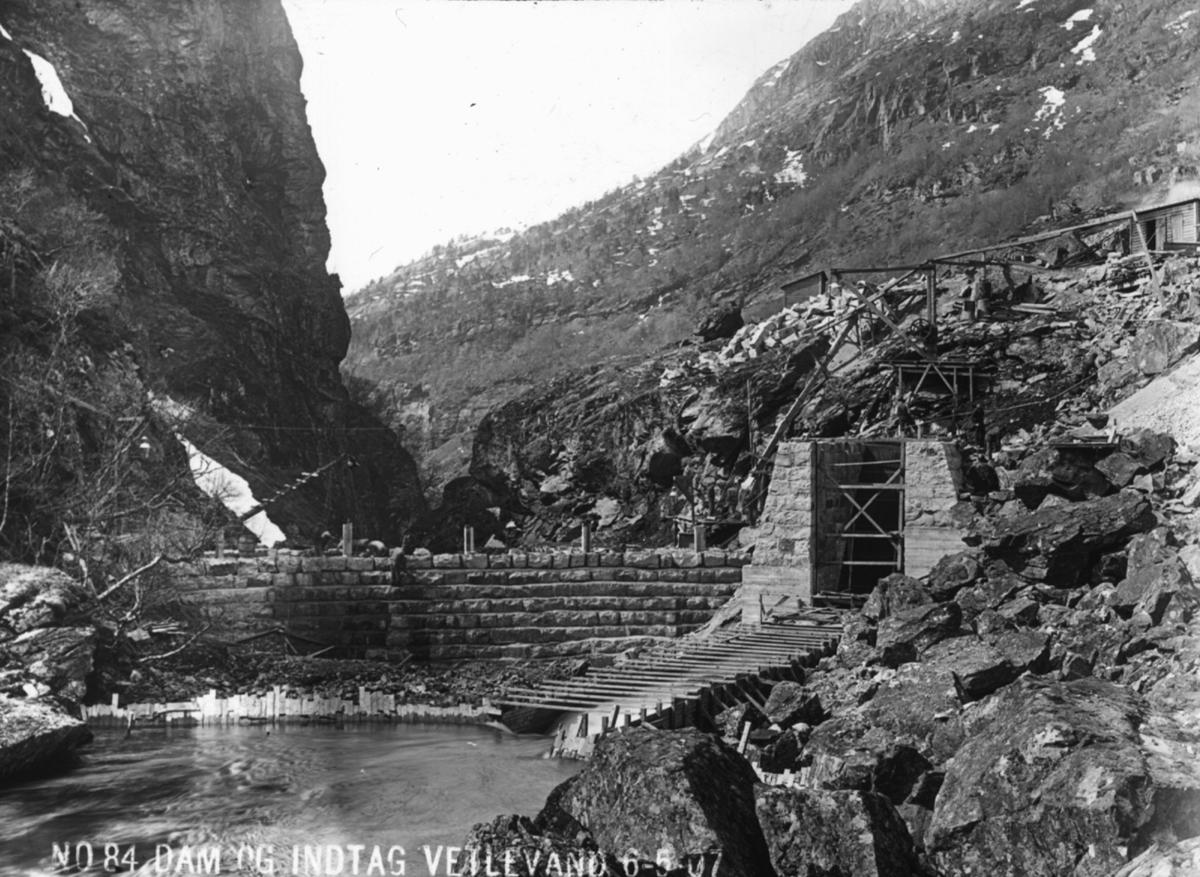 Dam og inntak Vetlevann