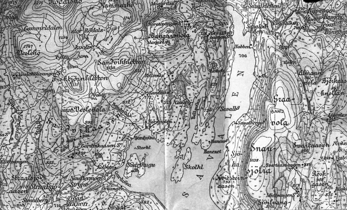 savalen kart Kart over Savalen.   Musea i Nord Østerdalen / DigitaltMuseum savalen kart