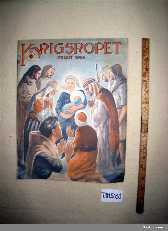 Framsidebilete av jomfru Maria og Jesusbarnet omgitt av hyrdar