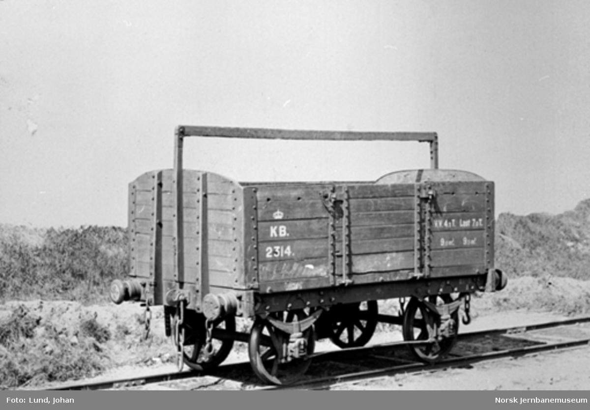 Kongsvingerbanens kassevogn litra L nr. 2314