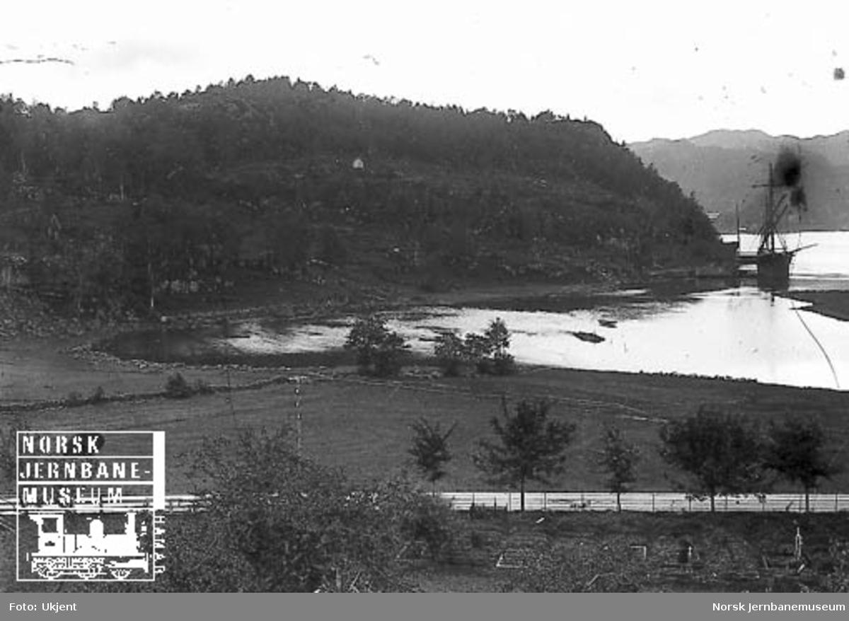Flekkefjord stasjonsområde før anlegget, sett mot sør