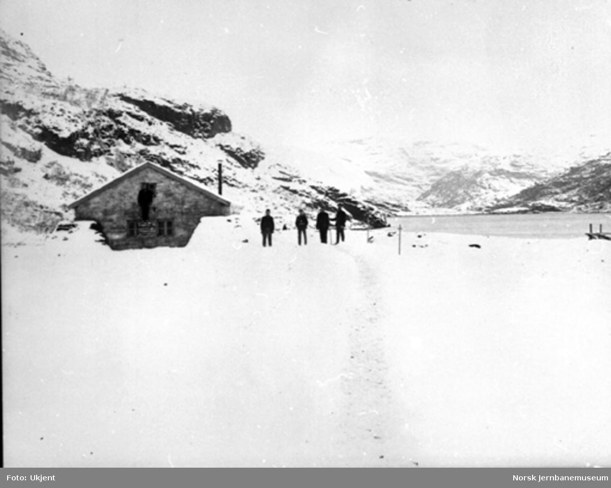 Bergensbanens anlegg; parti fra Seltuft