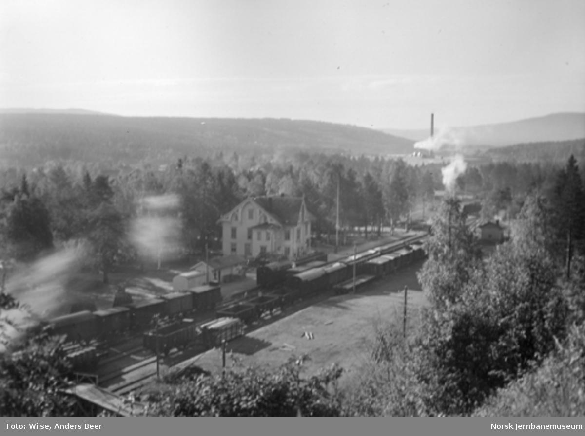 Oversiktsbilde over Rena stasjon