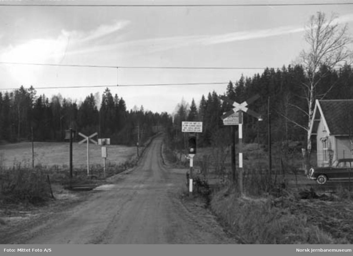 Sonsveien planovergang på Østfoldbanen
