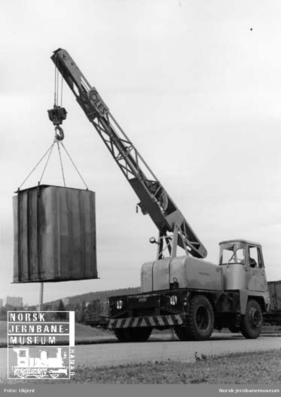 Mobilkran, NSB nr. 35-31, fabrikat Coles