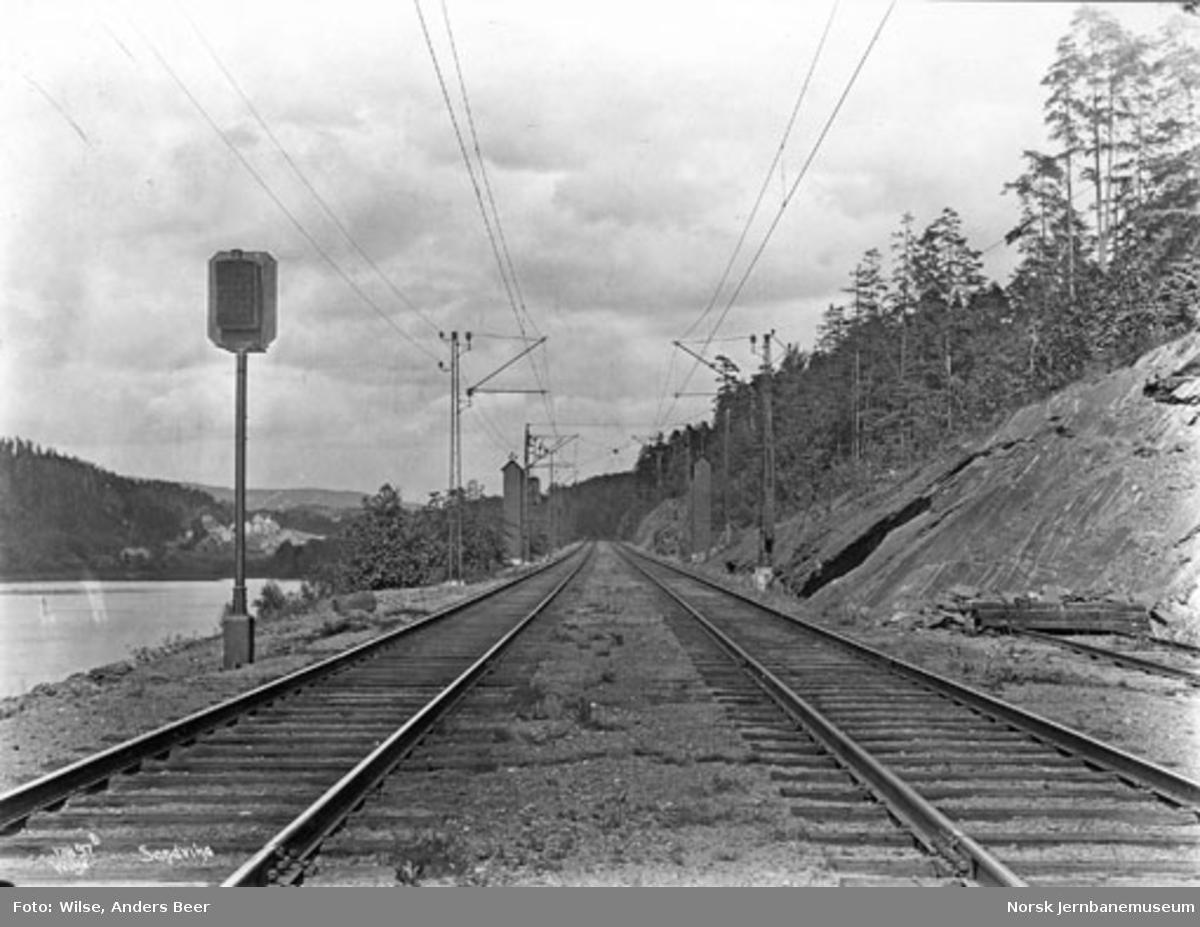 Sandvika stasjon, dobbeltsporet mot Oslo
