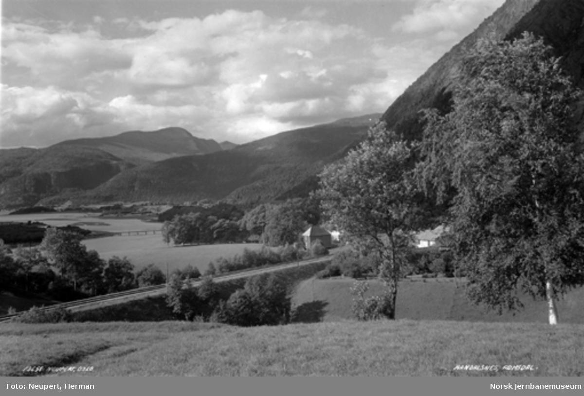 Raumabanen mellom Romsdalshorn og Åndalsnes