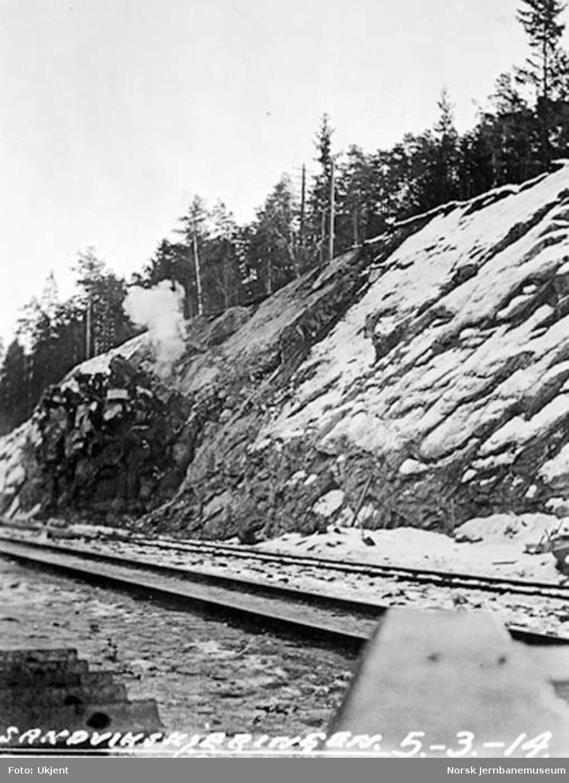 Drammenbanens omlegging : Sandviksskjæringen