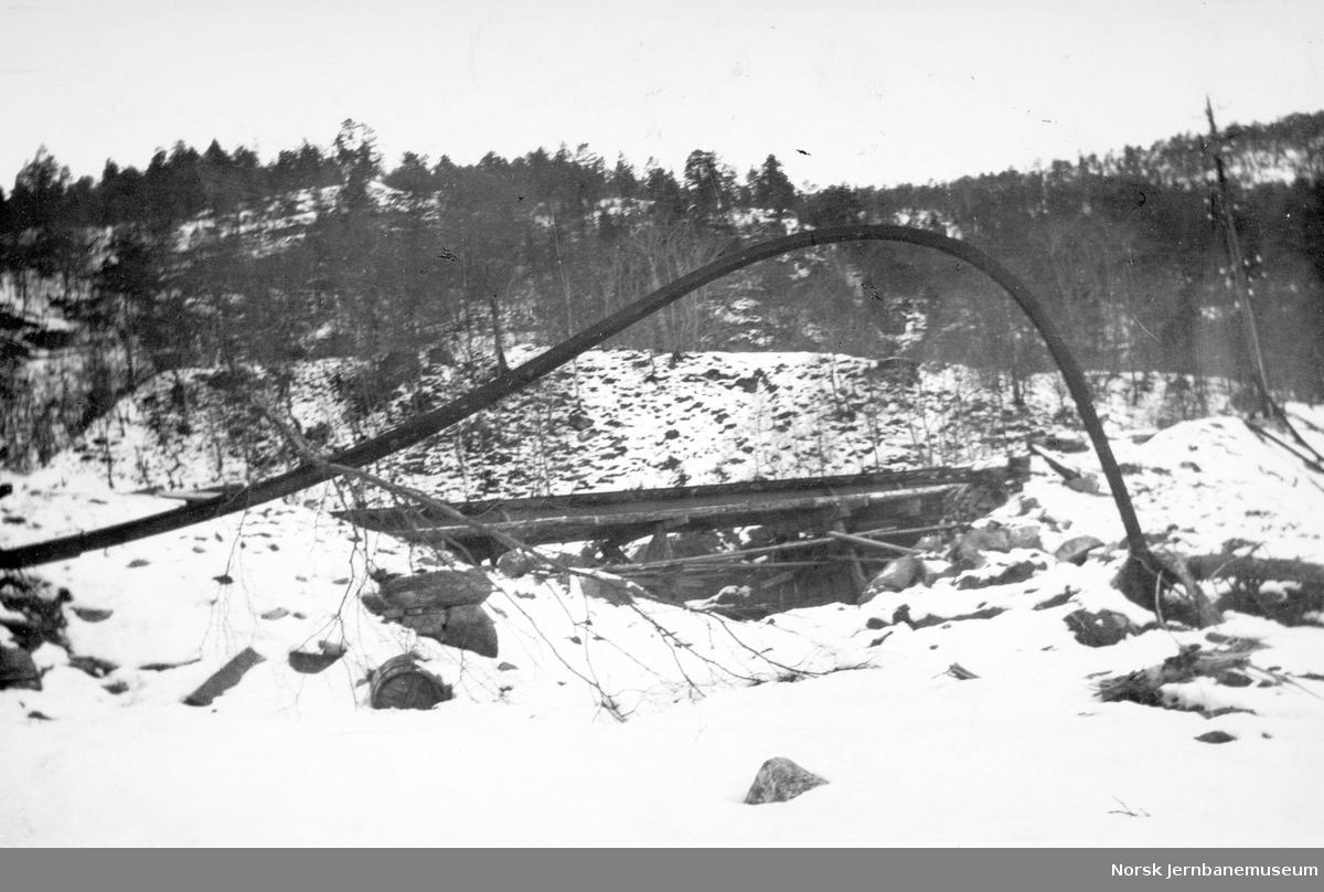 Ved Kløftefjell på Vossebanen etter rasene i februar 1928