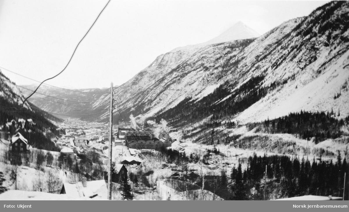 Oversiktsbilde fra Rjukan