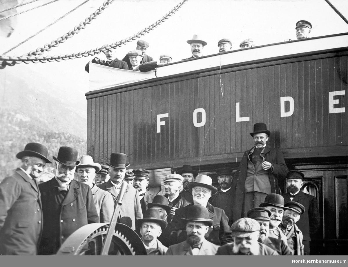 Lysttur med D/S Folden på Ofotfjorden ved Ofotbanens åpning