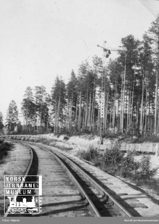 Semaforsignal for innkjøring til Elverum stasjon fra Løten