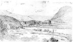 """BirkenesFra skissealbum av John W. Edy, """"Drawings Norway 18"""