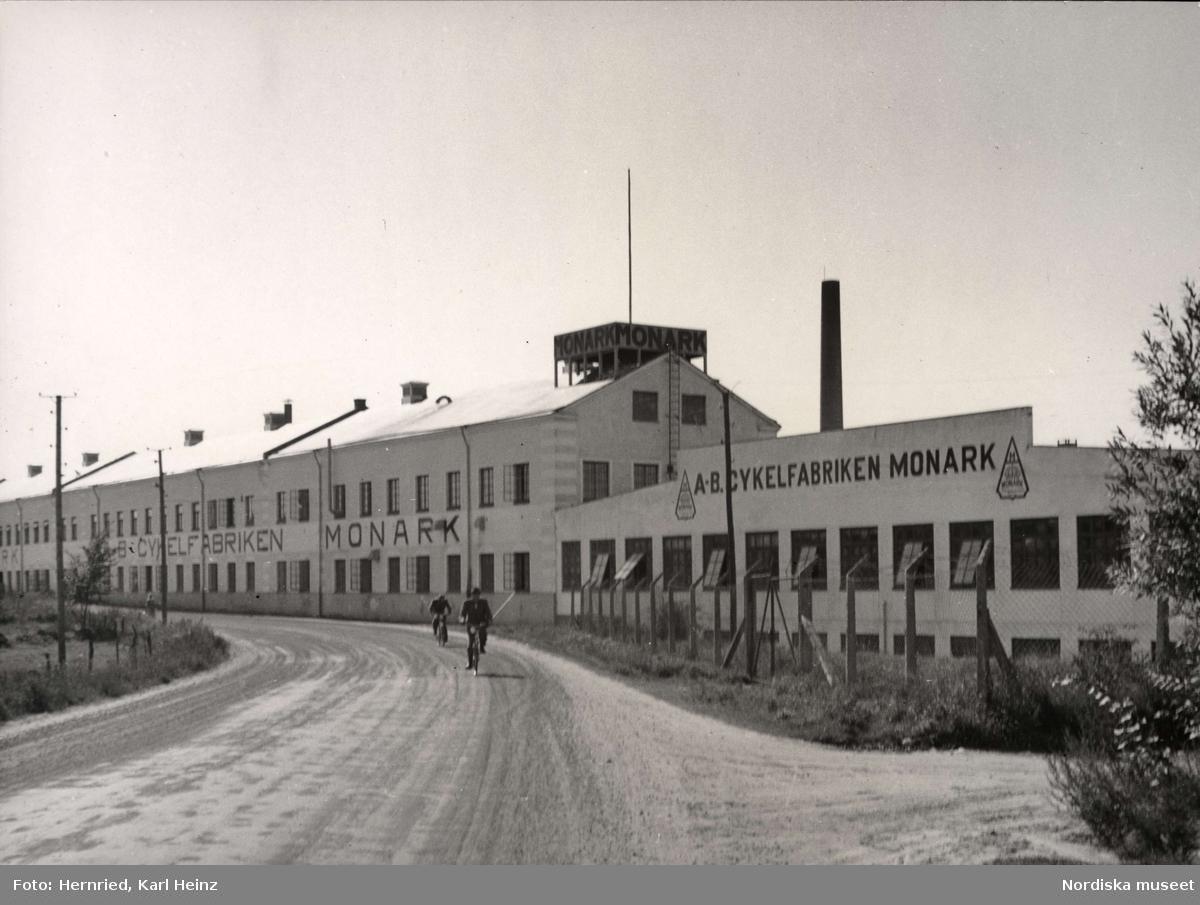Cykelfabriken Monark, AB i Varberg, Halland. Exteriör