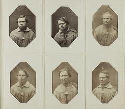 """""""Photografiskt Album för år 1861 öfver fångar förvarade å Ma"""