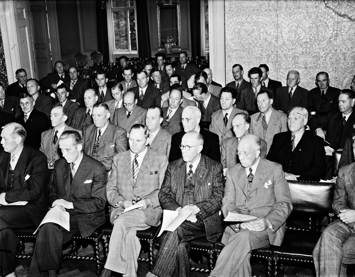 Svenska Hjälpen Till Finland har möte, Uppsala 1946