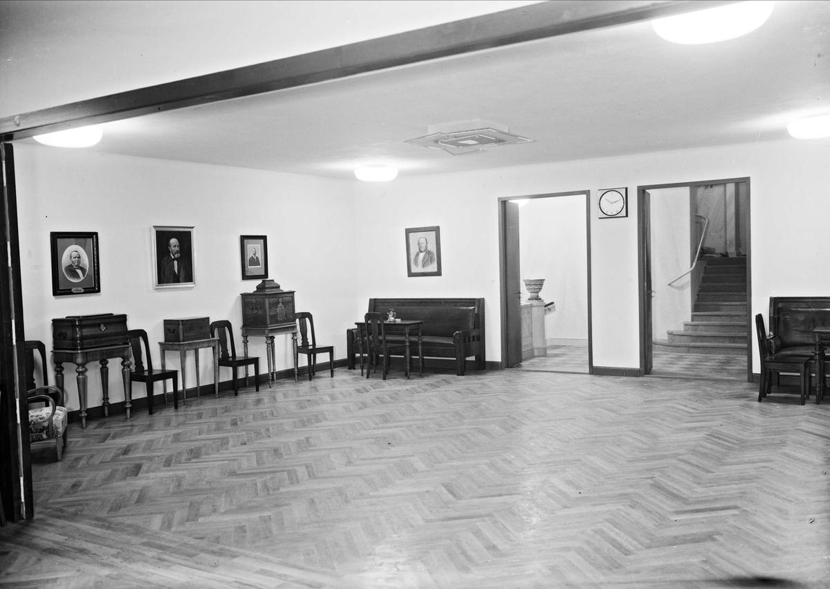 Smålands studentnation, S:t Olofsgatan - Sysslomansgatan, Uppsala, interiör 1947