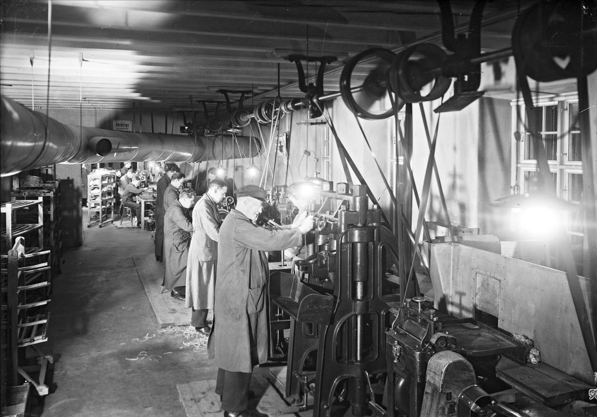 AB L E Larsson & Co, Hästens skofabrik, kvarteret Heimdal, Svartbäcksgatan, Uppsala, interiör 1932