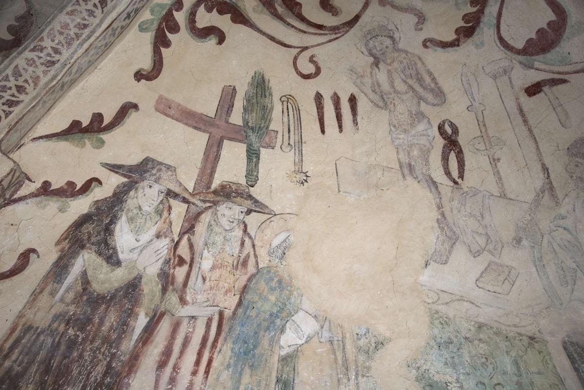 Kalkmålning i Övergrans kyrka, Uppland 2009