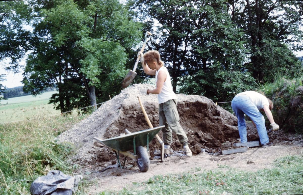 Kungsgårdsplatån, Fredrik Hellgren och Gunnar Hedlund - Arkeologi Gamla Uppsala 1990