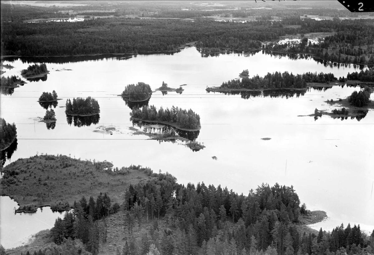 Flygfoto, sannolikt över Gruvsjön, Dannemora socken, Uppland 1936