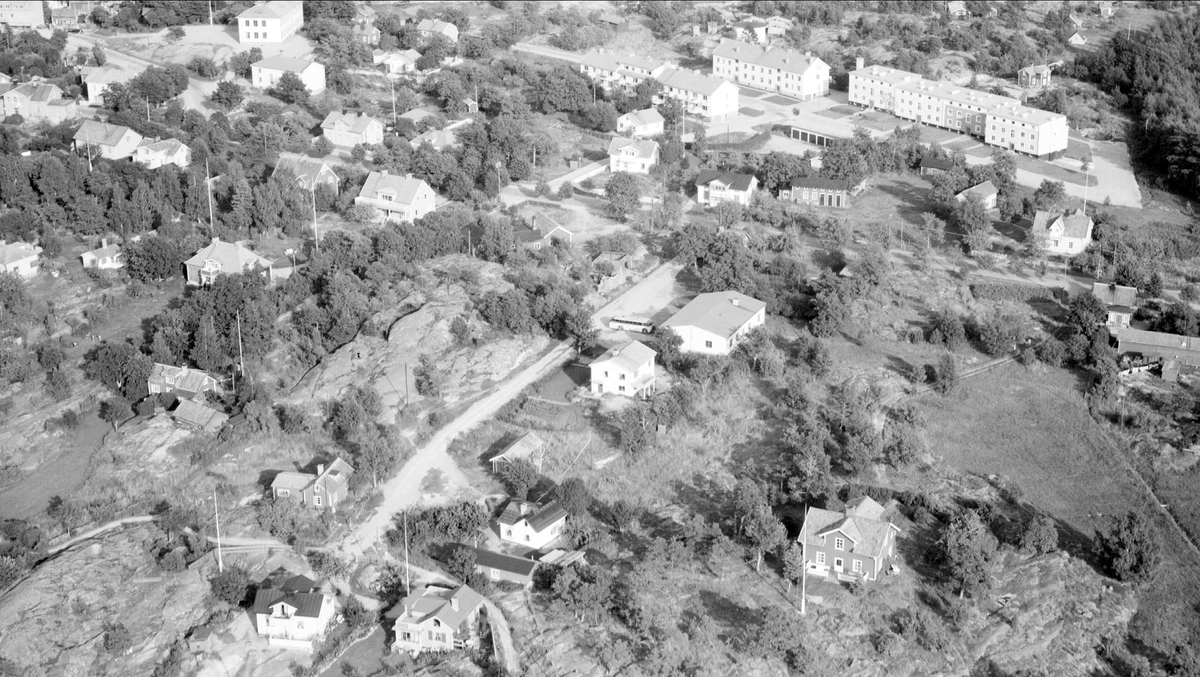 Flygfoto över Öregrund, Uppland 1955