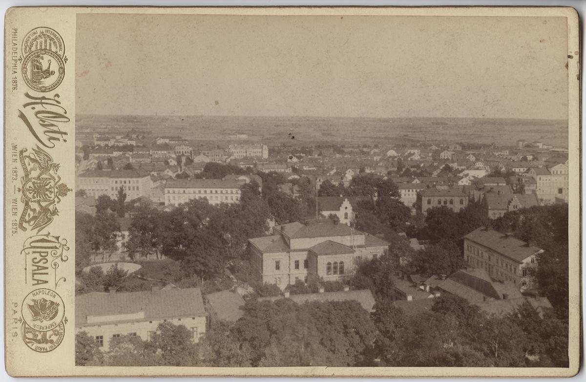 Reprofotografi - vy över Östgöta nation, kvarteret Fågelsången, Uppsala före 1914