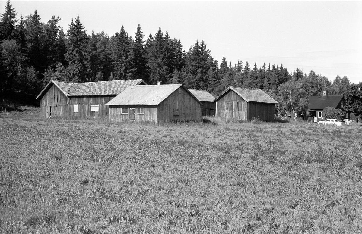Vy över Åkerby 1:3, Åkerby, Funbo socken, Uppland 1982
