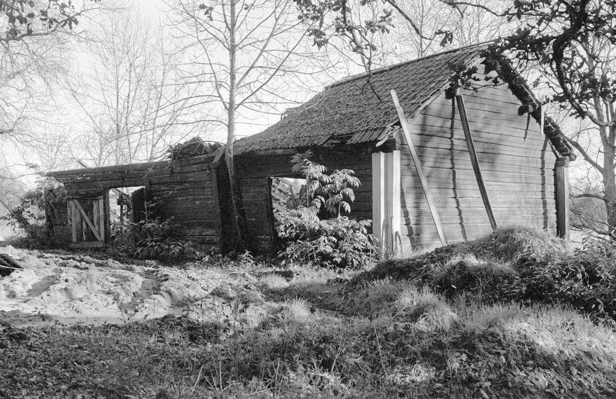 Vedbod före detta oxhus, Bredsjö 1:2, Bredsjö, Järlåsa socken, Uppland 1984