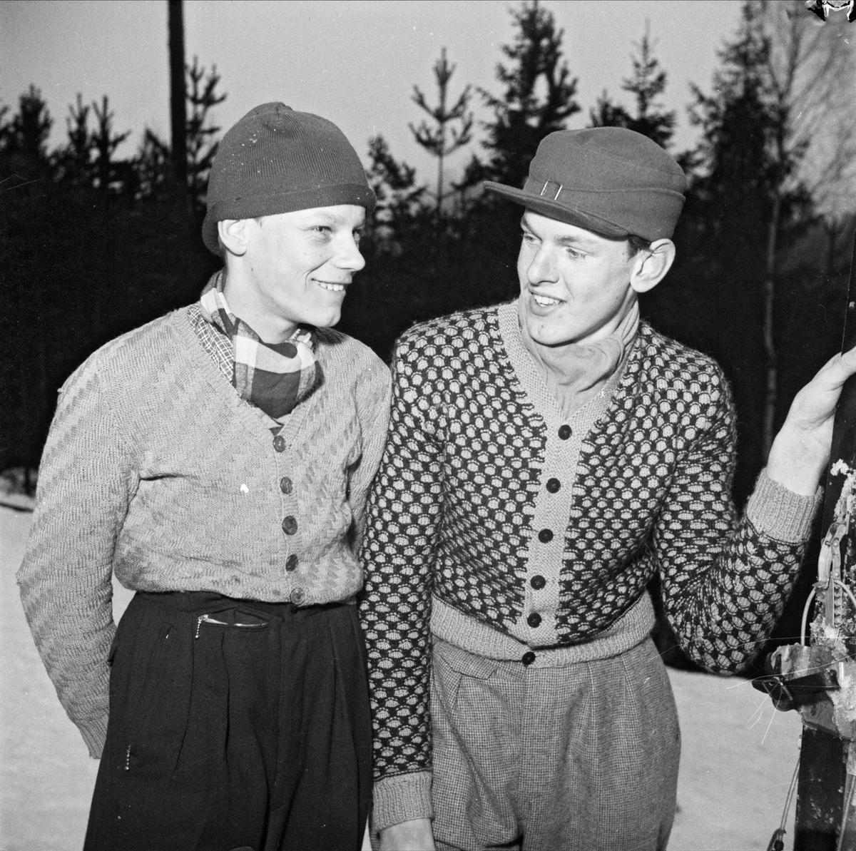 Backhoppning i Sunnerstabacken, Uppsala januari 1950
