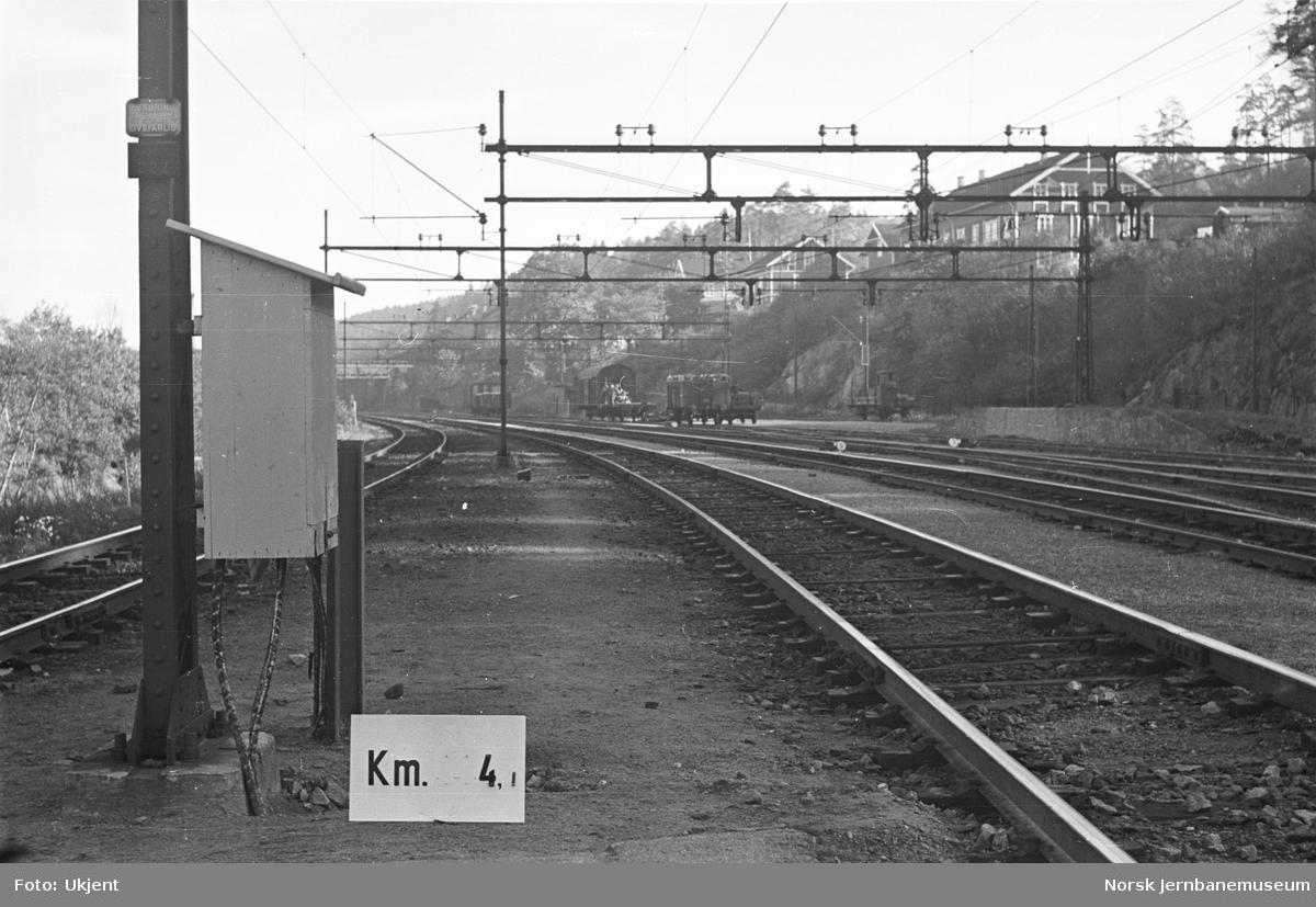 Hovedbanen : linjeføring km 4,1