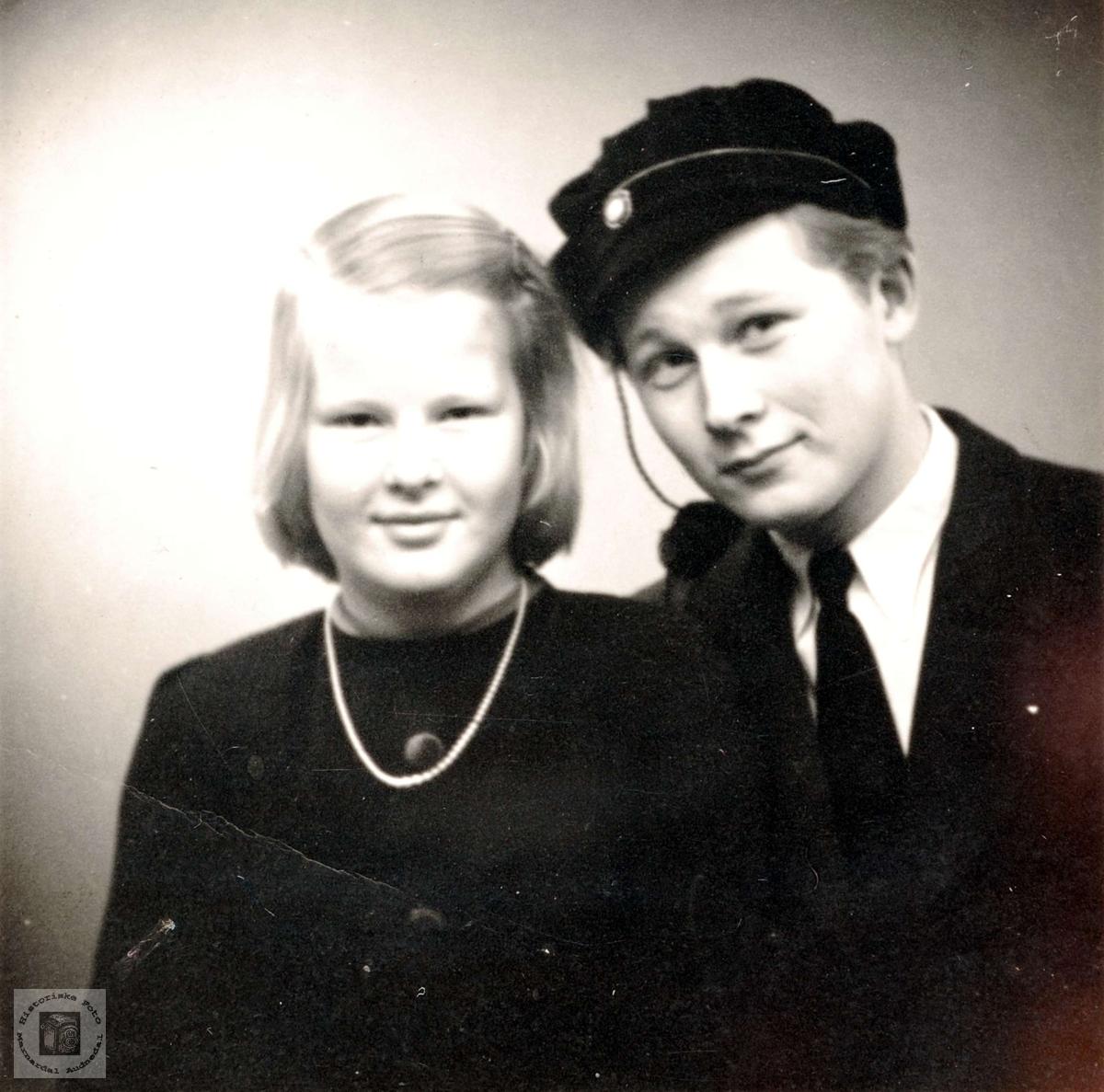 Søskenparet Tora og Knut Sveindal med røtter i Grindheim.