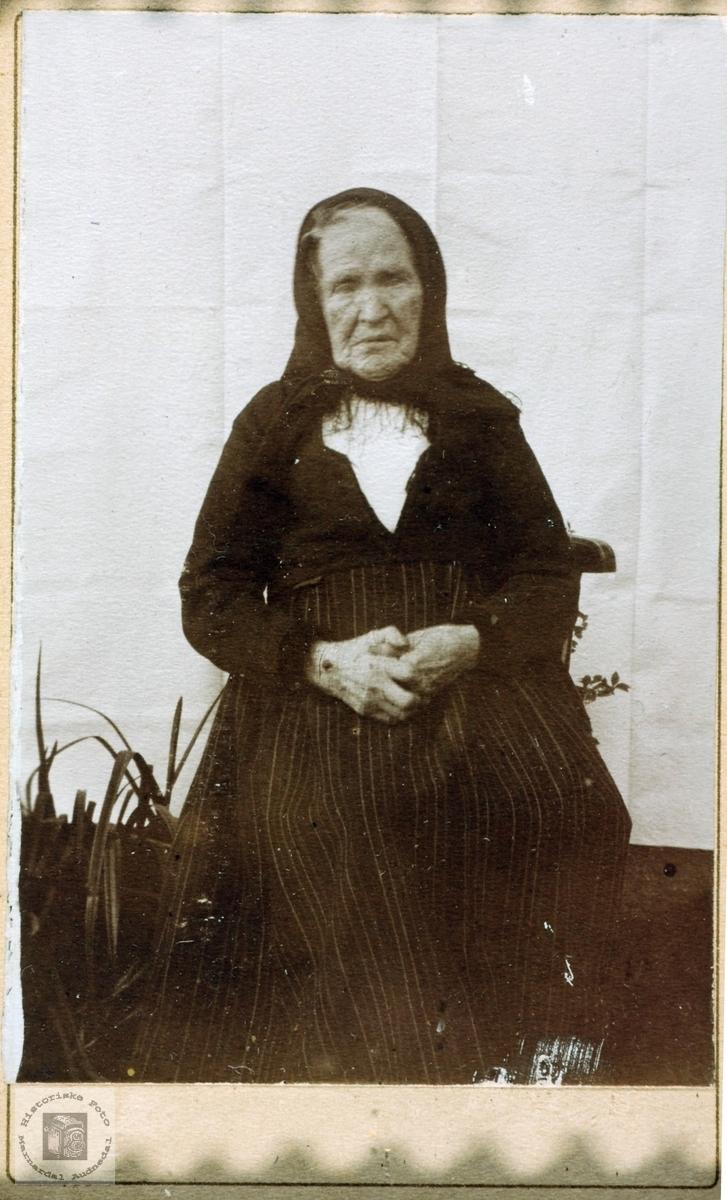 Portrett av Astri Håverstad, Åseral gift Seland. Grindheim Audnedal.