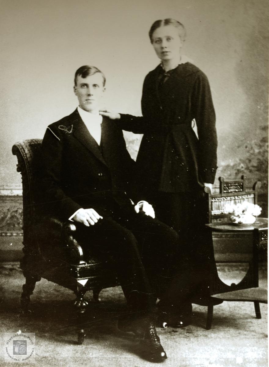 Portrett av J. G. Byremo og Olga Viblemo.