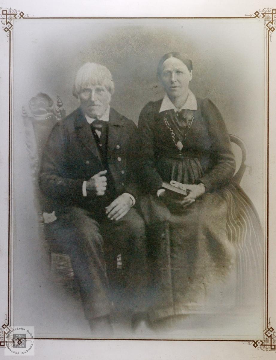 Brudebilde av Gunnar Larsen Helle og Siri Nilsdatter Birkeland, Konsmo Audnedal.