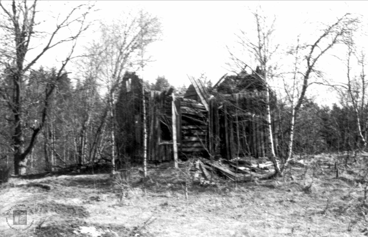 Stova i Bjenndalen til nedfalls. Bjelland.