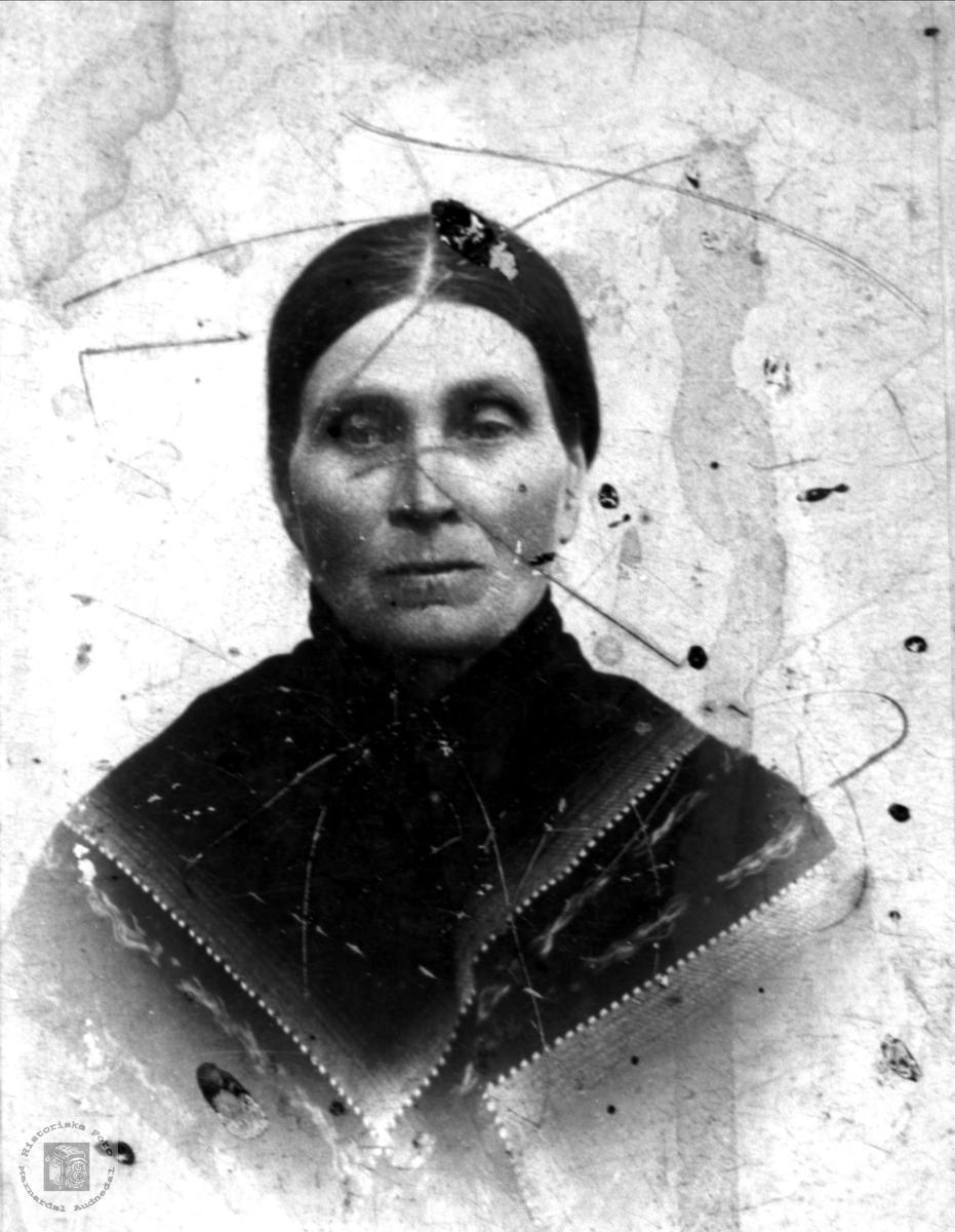 Portrett av Anna Rosseland, Bjelland.