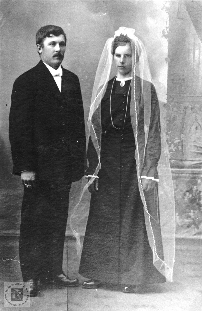 Ekteparet Gustav og Gunvor Glomså, Laudal Øyslebø.