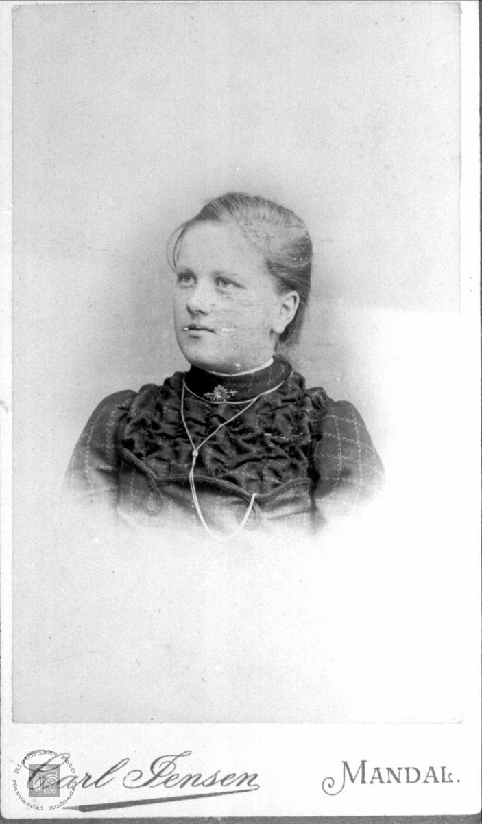 Portrett av Marthe Egelandså født Heddeland, Øyslebø.