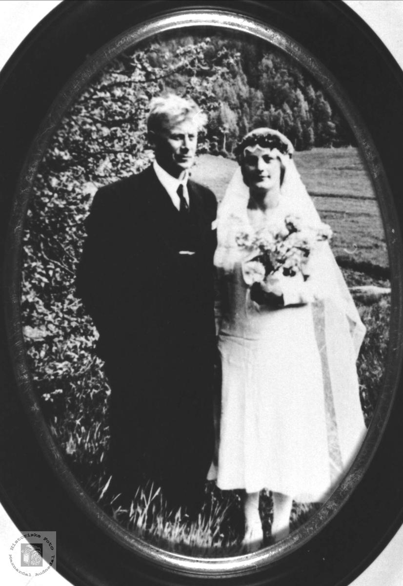 Ekteparet Knut og Taline Heddeland, Øyslebø.