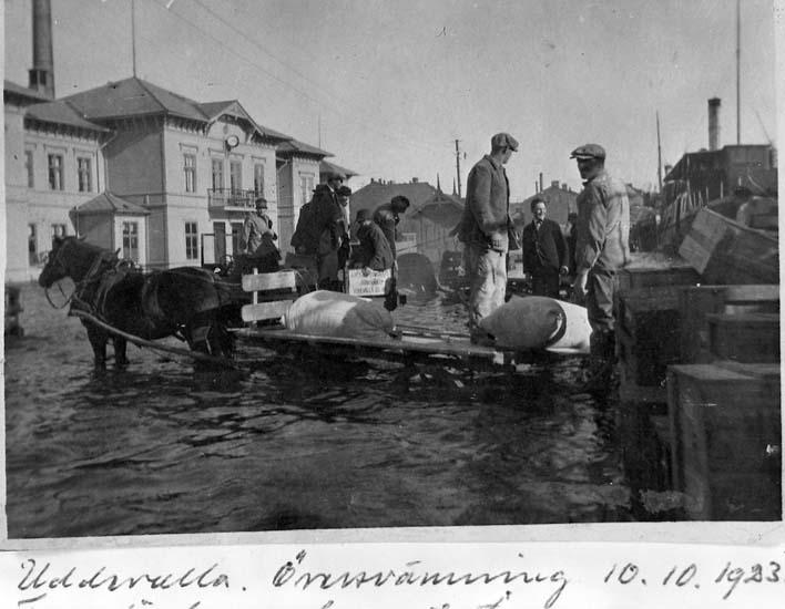 Översvämning  i Uddevalla 1923