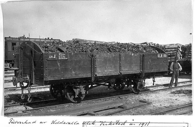 Godsvagn tillverkad på Uddevalla Mekaniska Verkstad 1911