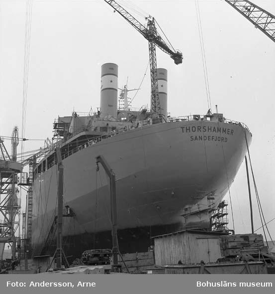 Fartyg 226 T/T Thorshammer på stapelbädd.